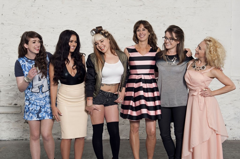 The Connected cast: Alanna Diggin, Nicole McQuillan, Elayne Harrington, Venetia Quick, Anna Ryan and Kate McGrew